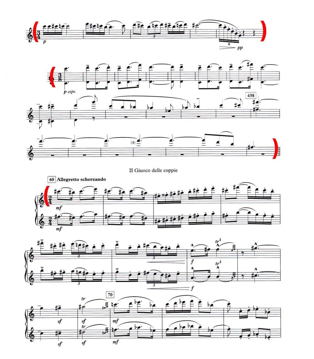 Bartok Concerto for Orchestra - Flute: page 1