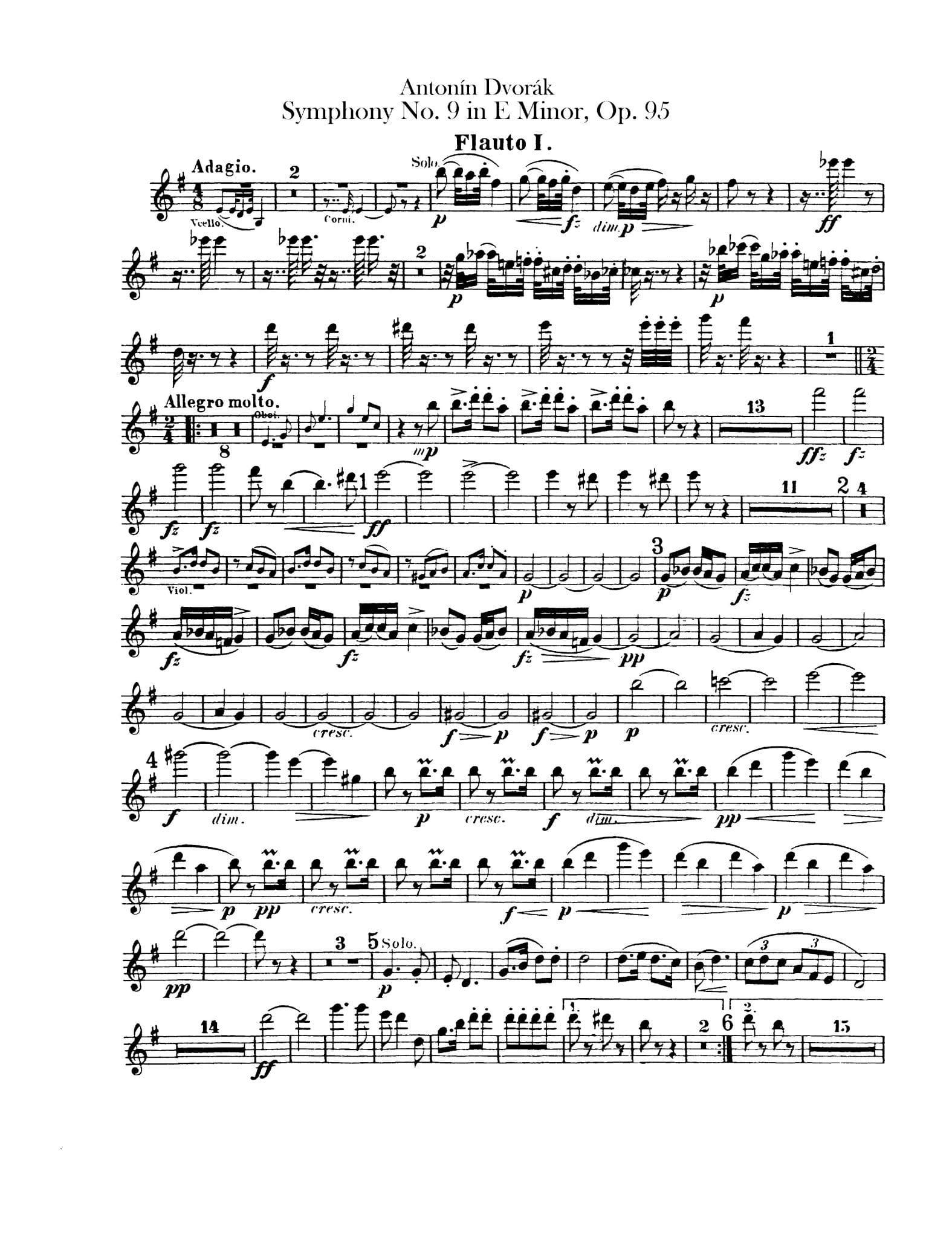Dvorak Symphony. 9 1