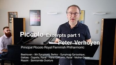 Piccolo Excerpts – Part 1 – Peter Verhoyen